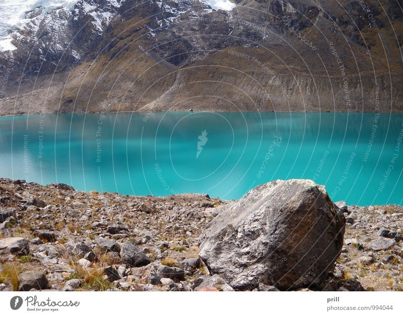 Huancayo Mountain Nature Plant Water Grass Hill Canyon Lake Stone Blue Green Turquoise Cold Pure huancayo Andes Peru South America High plain junin Valley