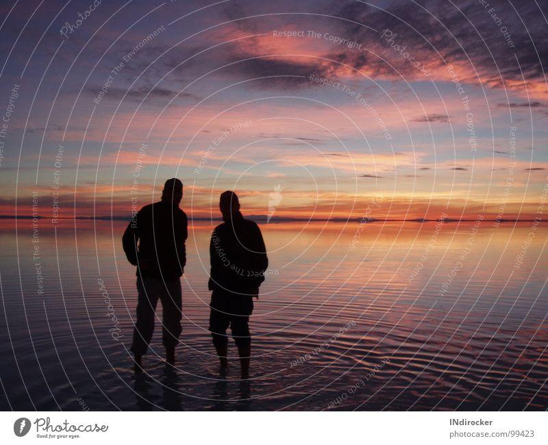 Sky Clouds Horizon South America Play of colours Bolivia Salt  lake Salar de Uyuni