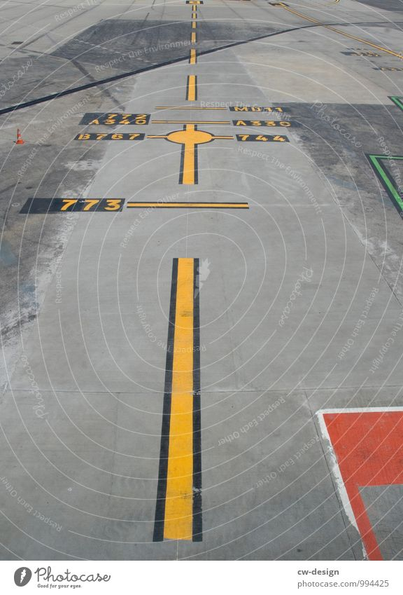 runway Deserted Airport Airfield Runway Airplane landing Airplane takeoff In the plane View from the airplane Yellow Gray Red Asphalt Line Dashed line Stripe