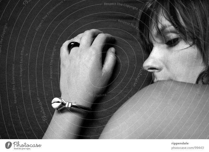 Woman Hand Beautiful Calm Gray Skin Circle Romance Soft Jewellery Bracelet