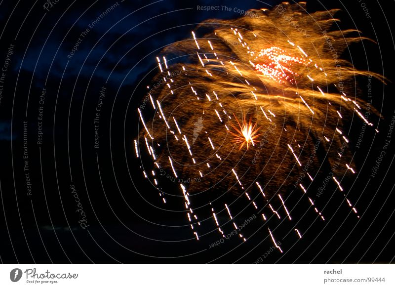 Party in the sky Firecracker Crash Explosion Meteor Waterfall Light Fascinating Shows Splendid Squander Emotions Gooseflesh Glittering Explode Fantastic Loud