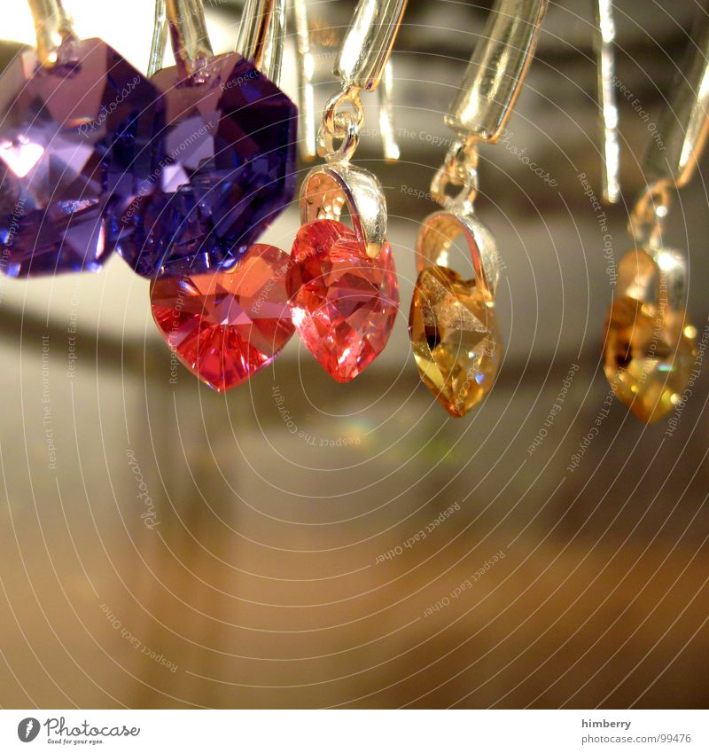 Blue Red Stone Brown Glittering Glass Drops of water Gold Store premises Luxury Jewellery Craft (trade) Silver Sell Earring Accessory