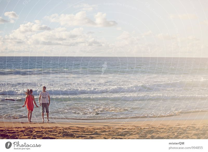 warm-hearted II Art Esthetic Contentment Couple Lovers Relationship Together Human being 2 Ocean Vacation & Travel Vacation photo Vacation destination