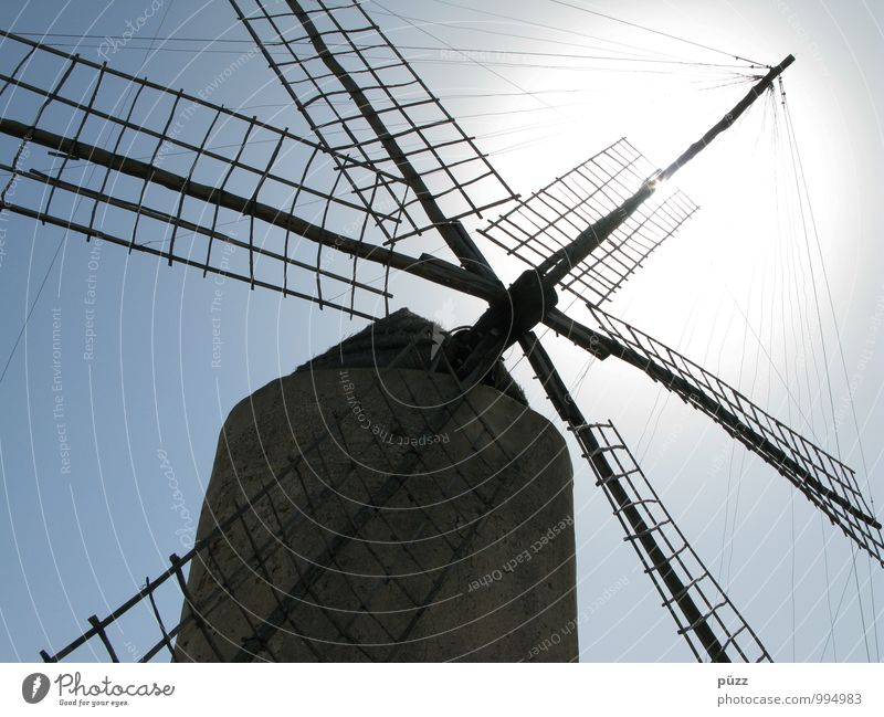 windmill Vacation & Travel Tourism Trip Sightseeing Technology Manmade structures Stone Wood Past Mill Miller Bread Spain Formentera Pinwheel Wind