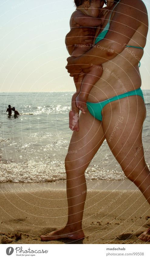 Human being Woman Child Water Vacation & Travel Ocean Beach Love Life Small Legs Feet Family & Relations Baby Skin Leisure and hobbies