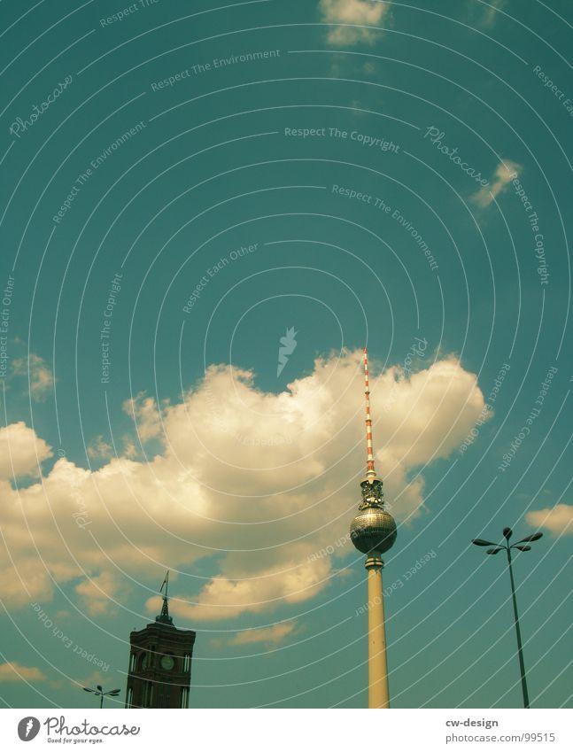 Sky White Blue City Clouds Lamp Berlin Graffiti Art Architecture Germany Glass Design Concrete Large