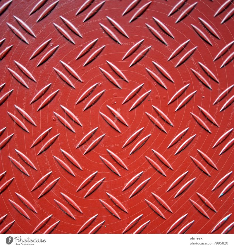 Structures and shapes Facade Tin Metal Line Red Symmetry Colour photo Exterior shot Abstract Pattern Deserted Day Contrast Deep depth of field