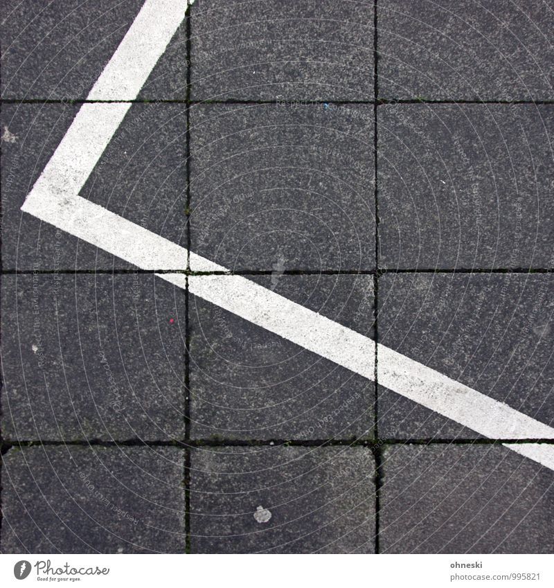 white stripes Road traffic Motoring Pedestrian Lanes & trails Sidewalk Parking lot Line Arrow Stripe Gray Colour photo Subdued colour Exterior shot Abstract