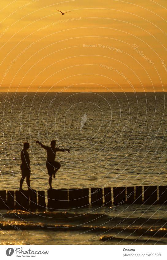 Man Water Sun Ocean Summer Beach Joy 2 Waves Dance Baltic Sea Yoga Pole Gymnastics
