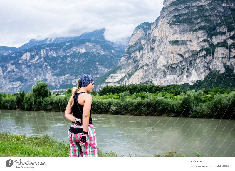 cyclist Lifestyle Leisure and hobbies Vacation & Travel Adventure Mountain Sports Cycling Feminine Young woman Youth (Young adults) 18 - 30 years Adults Alps