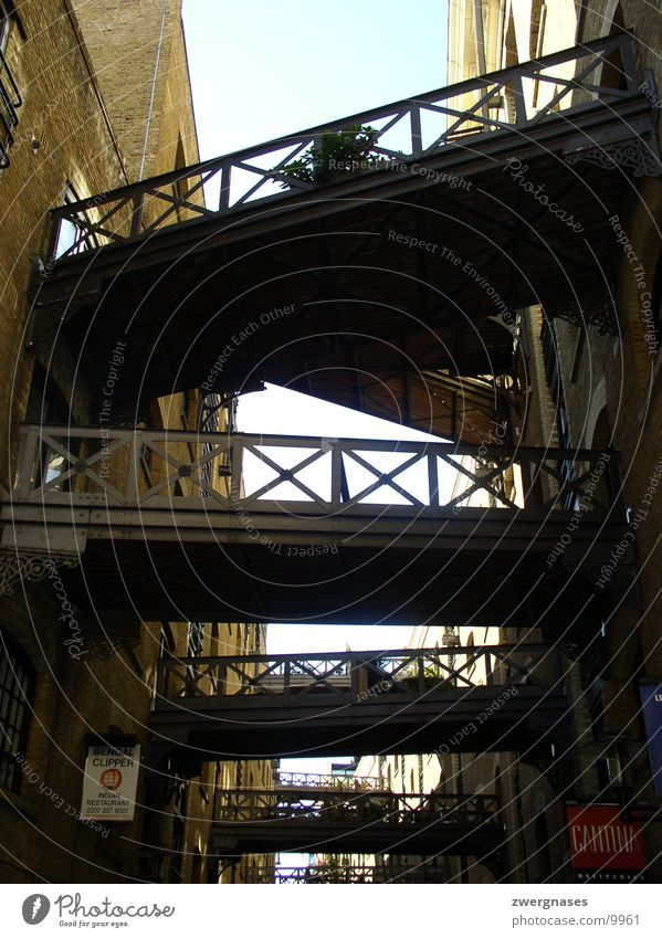 Wood Building Metal Perspective Bridge Connection London