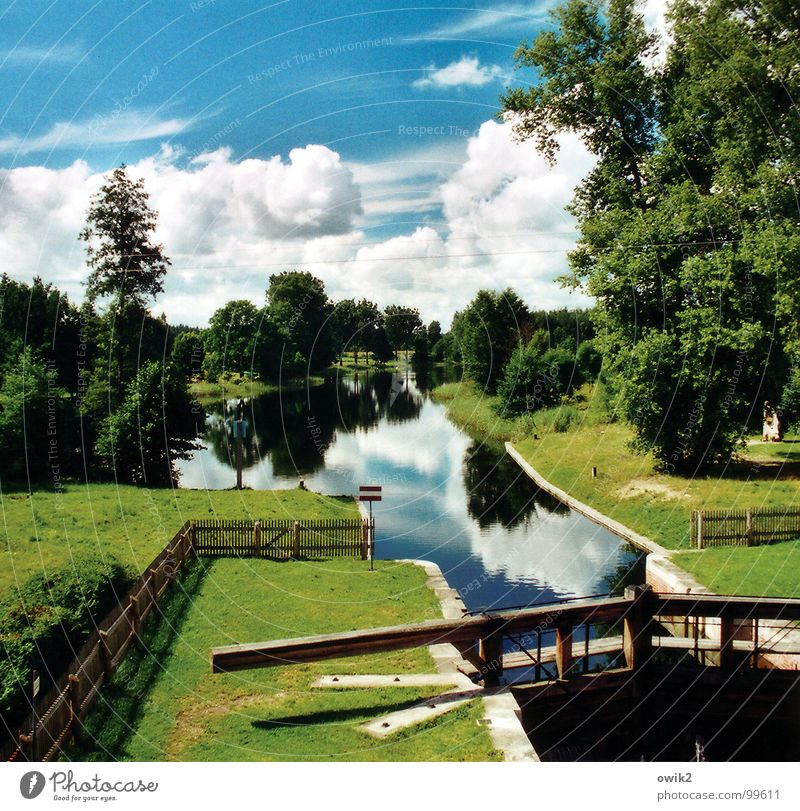 Canal Augustów Calm Leisure and hobbies Vacation & Travel Tourism Trip Far-off places Freedom Sightseeing Summer vacation Technology Environment Nature