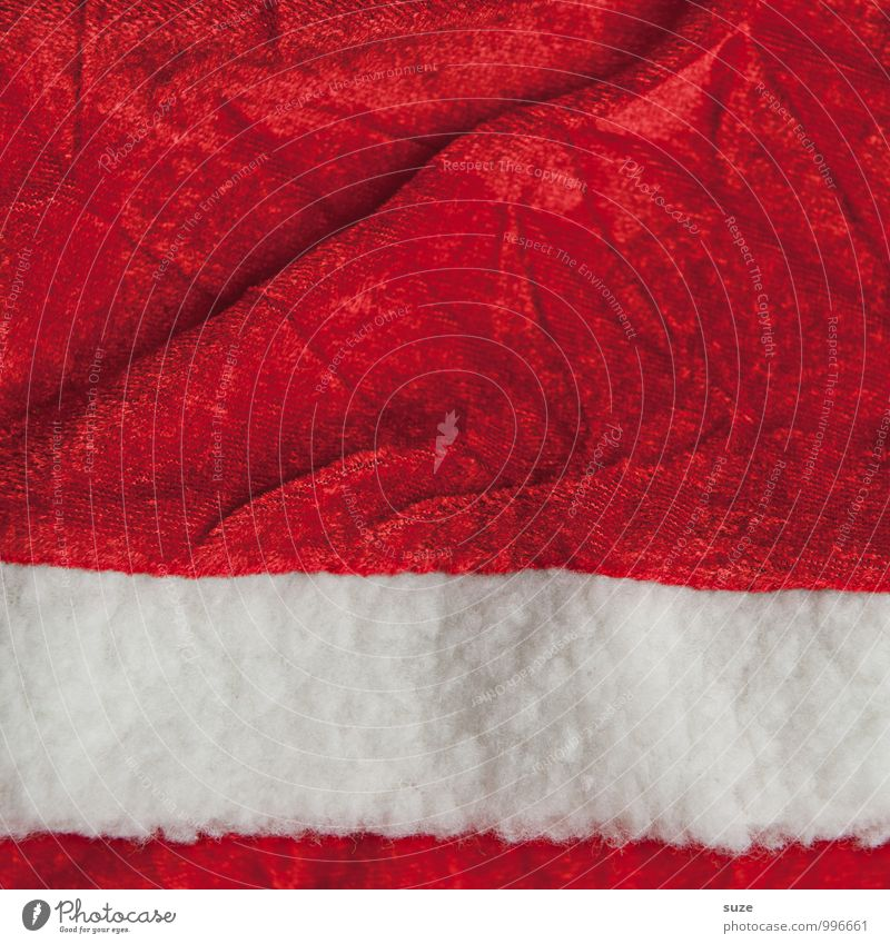 Fabric for hawking Design Decoration Feasts & Celebrations Christmas & Advent Trade Fashion Clothing Workwear Coat Sign Exceptional Simple Funny Red White