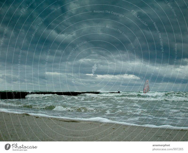 Sky Blue Water Ocean Clouds Beach Dark Coast Gray Weather Power Waves Wind Success Free Wet