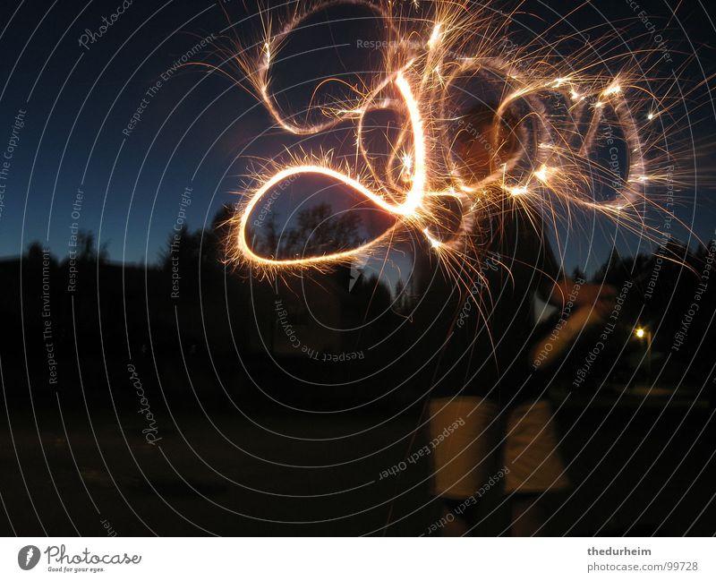 We see God everywhere Blaze Light Public Holiday sparkler god firework fireworks sparklers dark