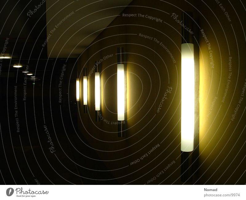 Yellow Lamp Dark Architecture Underground garage