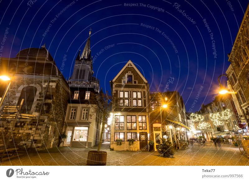 AAchen of the NIGHT Shopping Winter Christmas & Advent Human being Aachen Town Downtown Old town House (Residential Structure) Places Tourist Attraction