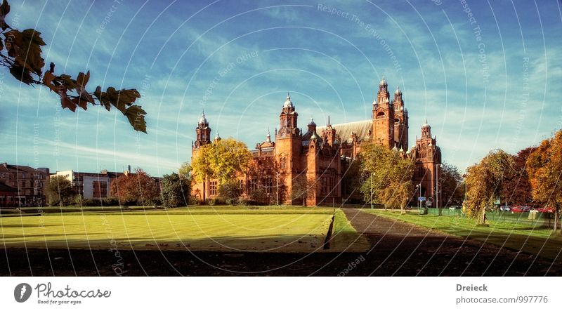 Kelvingrove Art Gallery Glasgow Museum Work of art Architecture Culture Autumn Park Meadow Scotland Town Downtown Castle Tower Manmade structures