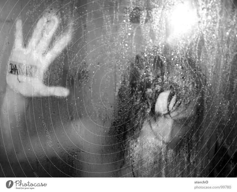 Woman White Black Dark Naked Fear Wet Bathroom Shower (Installation) Damp Panic Take a shower