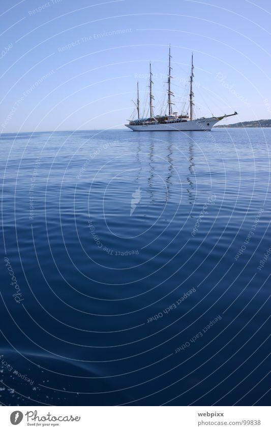 sea cloud I Calm Sailing ship Vacation & Travel Wanderlust Horizon Arrival Windjammer Cruise Navigation Regatta Success Grimaud Captain Sailing trip Relaxation