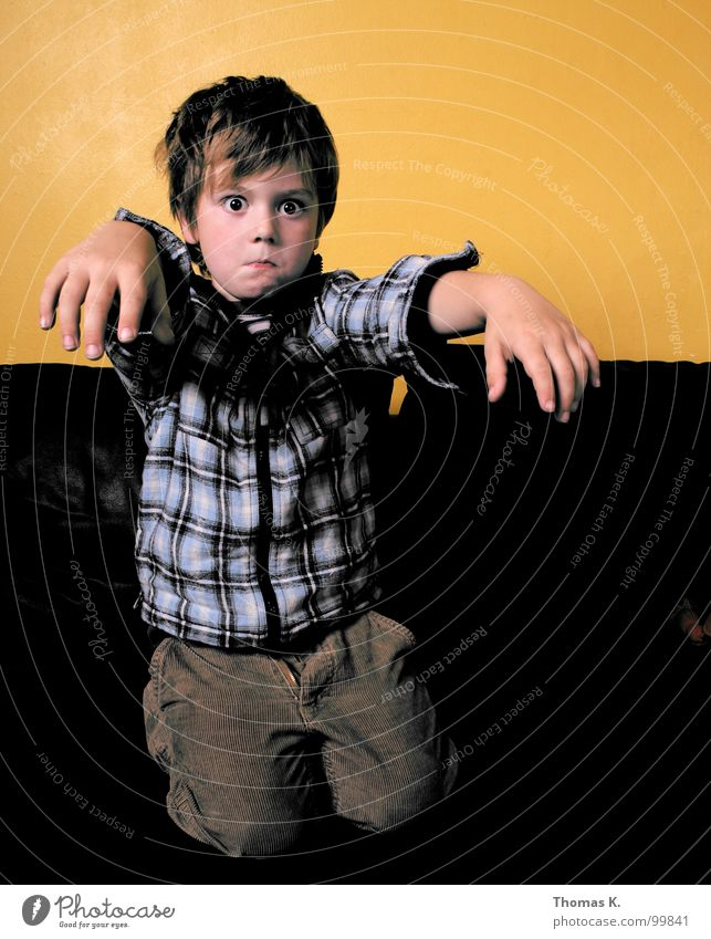Child Face Boy (child) Room Arm Television Sofa Media Placed Vest Z Zombie Undead