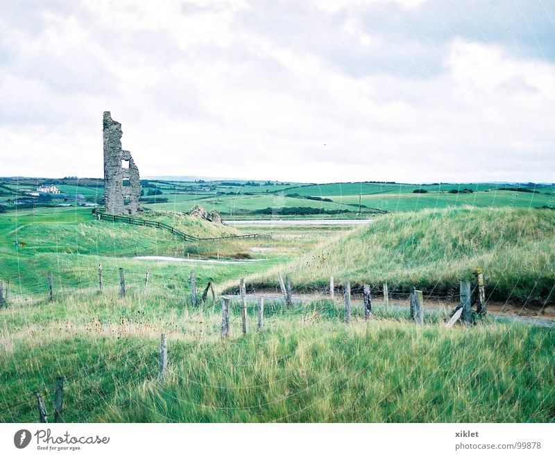 castle Old Sky Green Summer Vacation & Travel House (Residential Structure) Colour Grass Landscape Castle Destruction Ireland