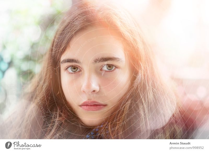 Human being Child Youth (Young adults) Beautiful Face Emotions Feminine Natural Style Lifestyle Design Illuminate Authentic 13 - 18 years Uniqueness