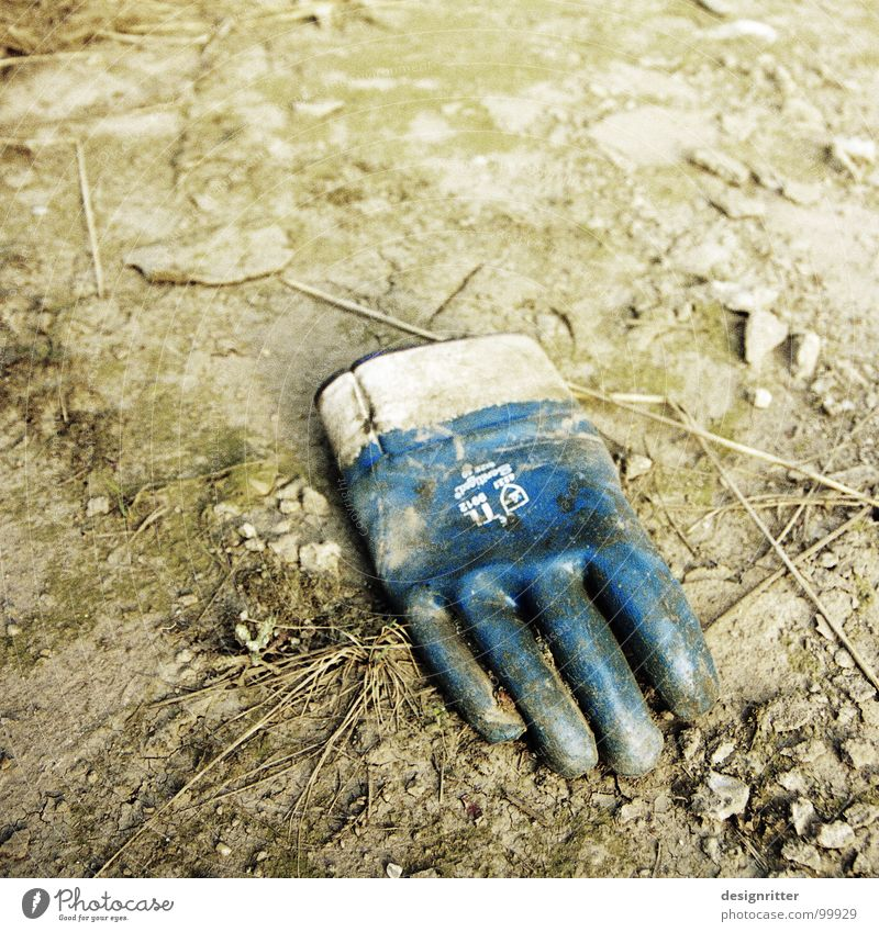 Old Hand Earth Dirty Fingers Industry Protection Trash Burn Retirement Gloves Second-hand Acid Harm Defective Contempt