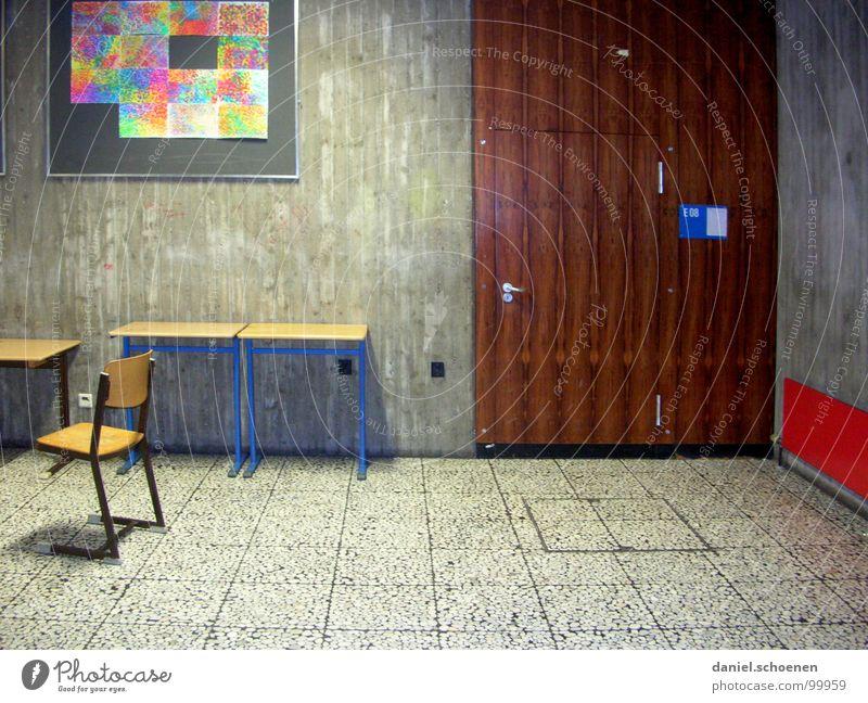 beautiful learning High School Hallway Vacation & Travel Classroom Grade (school level) Boredom Frustration Detail school corridor Door Chair grades heat-free