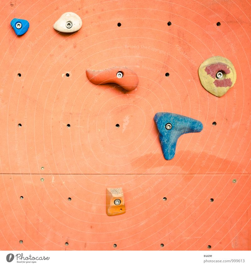 Joy Wall (building) Sports Lifestyle Orange Leisure and hobbies Authentic Simple Uniqueness Fitness Plastic Climbing Sports Training Effort Mountaineering