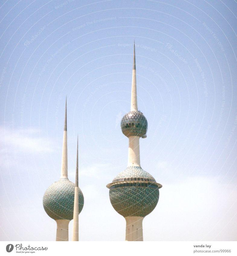 Sky Summer Clouds Art Modern Round Tower Desert Point Sphere Monument Oil Landmark Futurism Tourist Attraction
