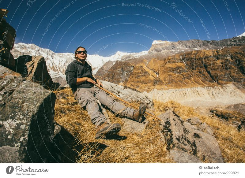 Human being Vacation & Travel Youth (Young adults) Joy Young man 18 - 30 years Far-off places Adults Mountain Sports Happy Freedom Exceptional Above Masculine Power