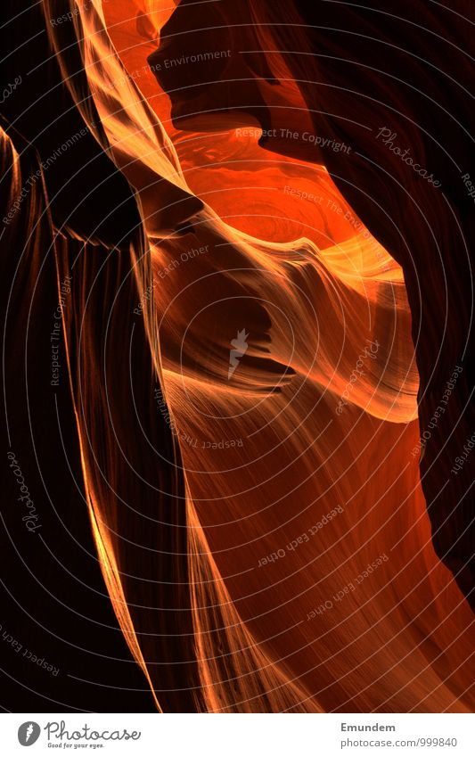 Antelope Canyon Environment Nature Landscape Elements Sand Fire Water USA North America Deserted Esthetic Fluid Round Beautiful Soft Orange Red Arizona Americas