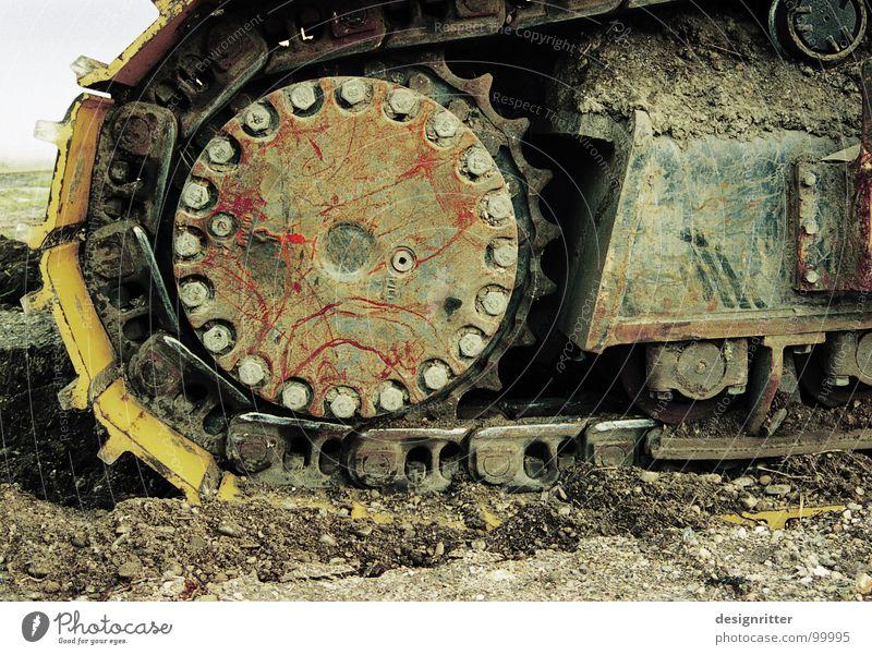 Death Broken Transience Desert Rust Machinery Destruction Chain Blood Dismantling Monster Gearwheel Rip Desert Excavator Annihilate
